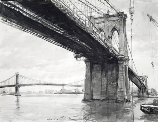 Brooklyn Bridge lithograph