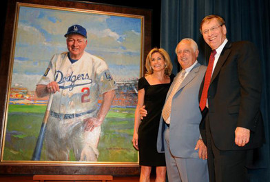 Tommy Lasorda portrait unveiling