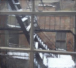 Fire Escape in the Snow