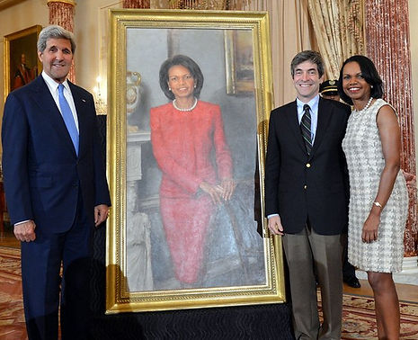 Portrait unveiling of Secretary of State Condoleezza Rice at the US Department of State, Washington, D.C.