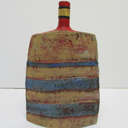 Slab Bottle with Stripes