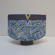 Blue Vessel with Blue Interior