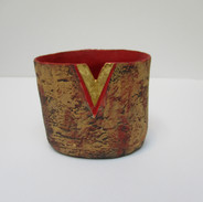 Mini Vessel with red inside