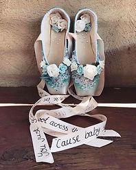 Milibelle decorated pointe shoes orginal pair