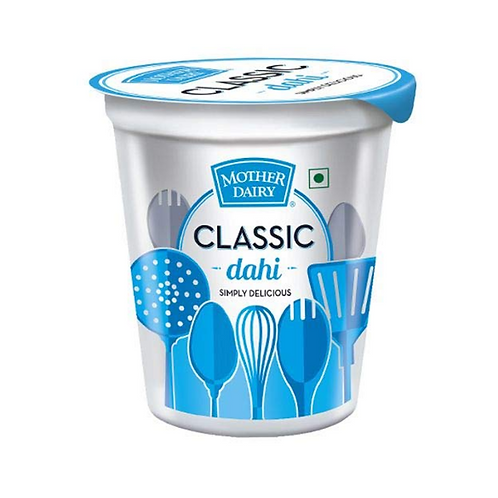Mother Dairy Dahi - Made From Toned Milk, 400 g Cup