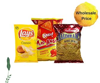 Chips, namkeen & nachos on Bullshit Basket at wholesale prices