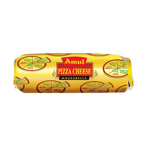 Amul Pizza Cheese - Mozzarella Block, 1 kg Pouch