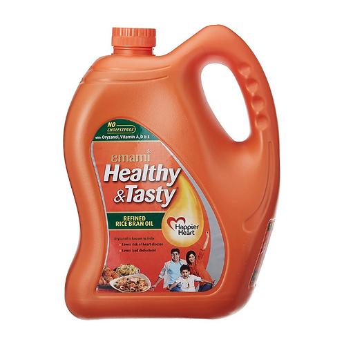 Emami Healthy & Tasty - Rice Bran Oil, 5L