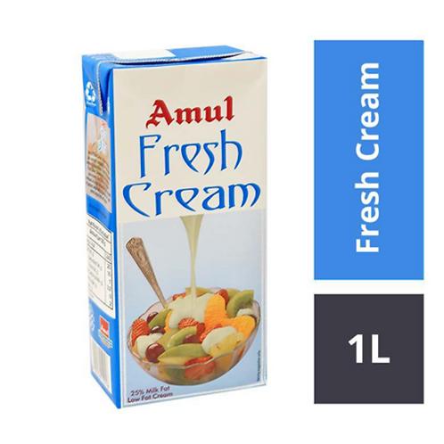 Amul Fresh Cream - 25% Milk Low Fat - 1Ltr
