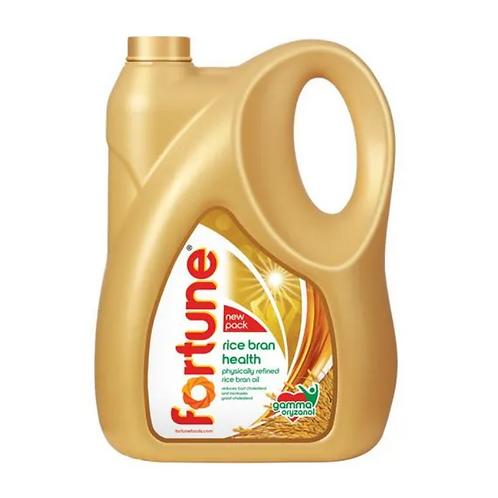 Fortune Refined Oil - Rice Bran, 5L Can