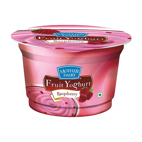Mother Dairy Fruit Yoghurt - Raspberry, 100 g Cup