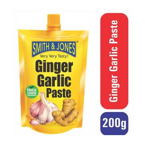 Smith & Jones Paste - Ginger Garlic, 200gm Pouch