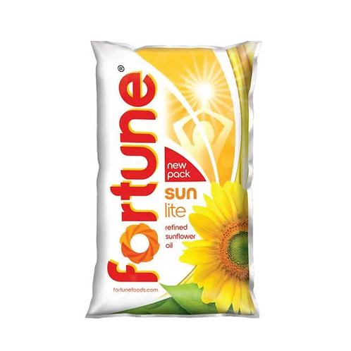 Fortune Sunflower Refined Oil - 1L Pouch