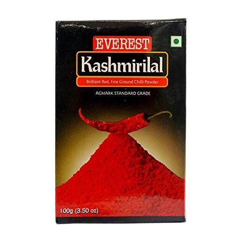 Everest Powder - Kashmirilal Ground Chilly, 100 gm Carton