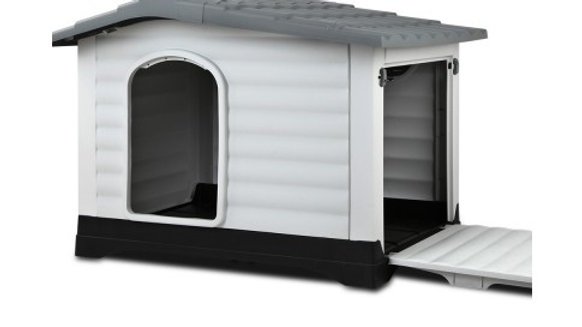 Weatherproof Pet Kennel - Grey
