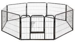 8 Panel Pet Dog Playpen Puppy Exercise Cage Enclosure Fence Play Pen 80x80cm