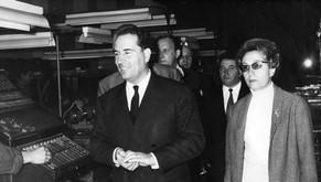 Evelyne Baylet avec François Mitterand