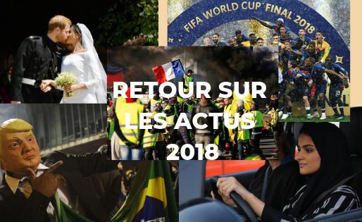 TOP 5 DES ACTUALITÉS 2018