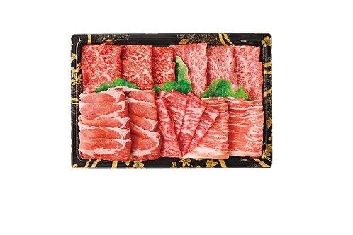 さつまビーフ 鹿児島県産黒豚 焼肉用5点盛り