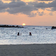 Pôr do sol no Sunscape Resort.