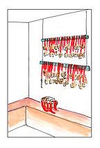 illustratin décor de vitrine Studio Laure-Anne Caillaud La maison du mochi