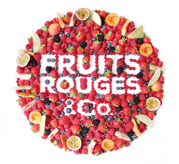 design culinaire, creation visuelle artistique, logo en fruits pour Fruits rouges & Co