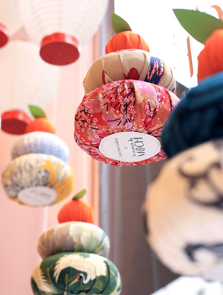La Maison du Mochi décor de vitrine Food Studio Laure-Anne Caillaud