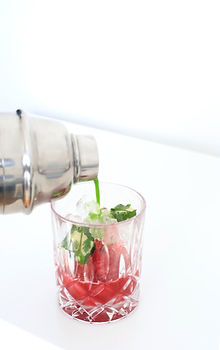 cocktail design rhum diplomatico framboise pomme jardin recette Laure-Anne Caillaud atelier créatif lyon