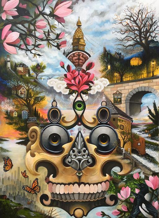 kapala thirdeye lotusthrone magicalrealism newcontemporaryart popsurrealism postsurrealism gunnarfoley