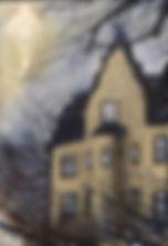 HauntedHouse glowing spooky popsurrealism