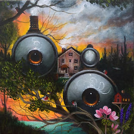 popsurrealism gunnarfoley lowbrow gemini acrylicpainting magicalrealism symbolism
