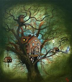 posthuset treehouse popsurrealism artmonstersofsweden gunnarfoley