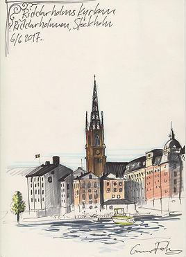 riddarholmskyrkan riddarholmen urbansketching stockholm