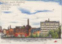 färgfabriken lövholmen stockholm urbansketching
