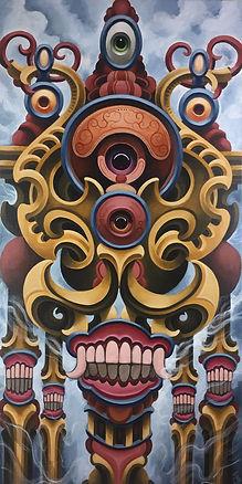 stupa thirdeye visionaryart gunnarfoley