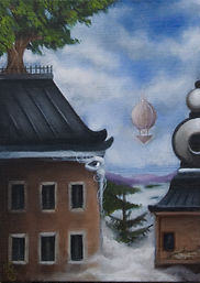 acrylikpainting akrylmålning gunnarfoley postsurrealism stockholm