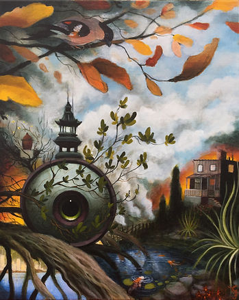 thirdeye brooch domherre magicalrealism newcontemporaryart popsurrealism gunnarfoley