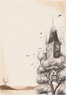 treetown postsurrealism teckning