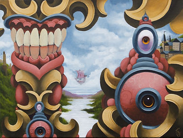 rift popsurrealism acrylicpainting gunnarfoley