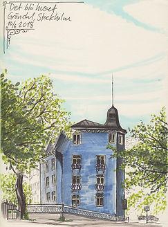 gröndal stockholm urbansketching det blå huset
