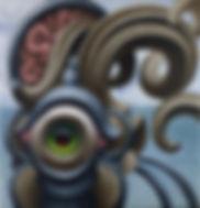 eye beholder acrylicpainting konst stockholm lowbrow popsurrealism