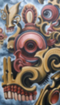 Kapala skullart popsurrealism
