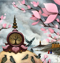 stupa magnolia popsurrealism gunnarfoley