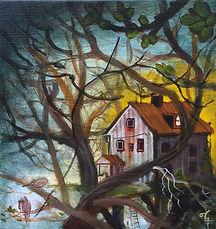 trädkoja treehouse popsurrealism