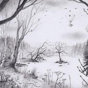 Tjärn teckning gunnarfoley