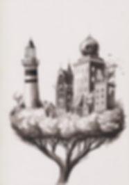TreeTown illustration postsurrealism