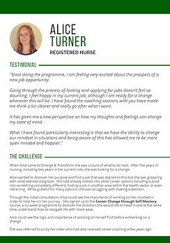 Career coaching case study