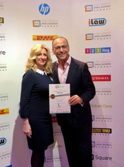 Business award with Theo Paphitis
