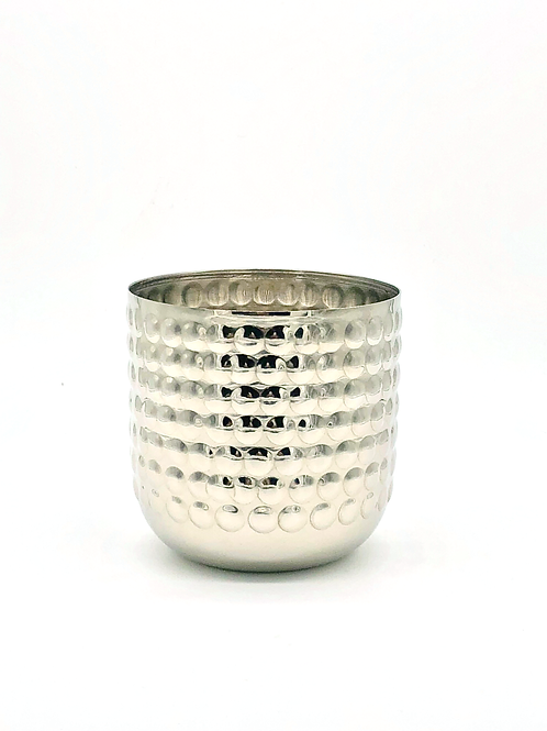 Silver Bobble Metal Soy Wax Candle - Large 450g