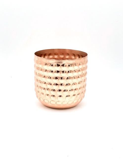 Rose Gold/Copper Bobble Metal Soy Wax Candle - Large 450g